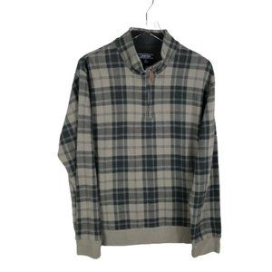 Lands End Mens 1/4 Zip Pullover Sweater Size Large